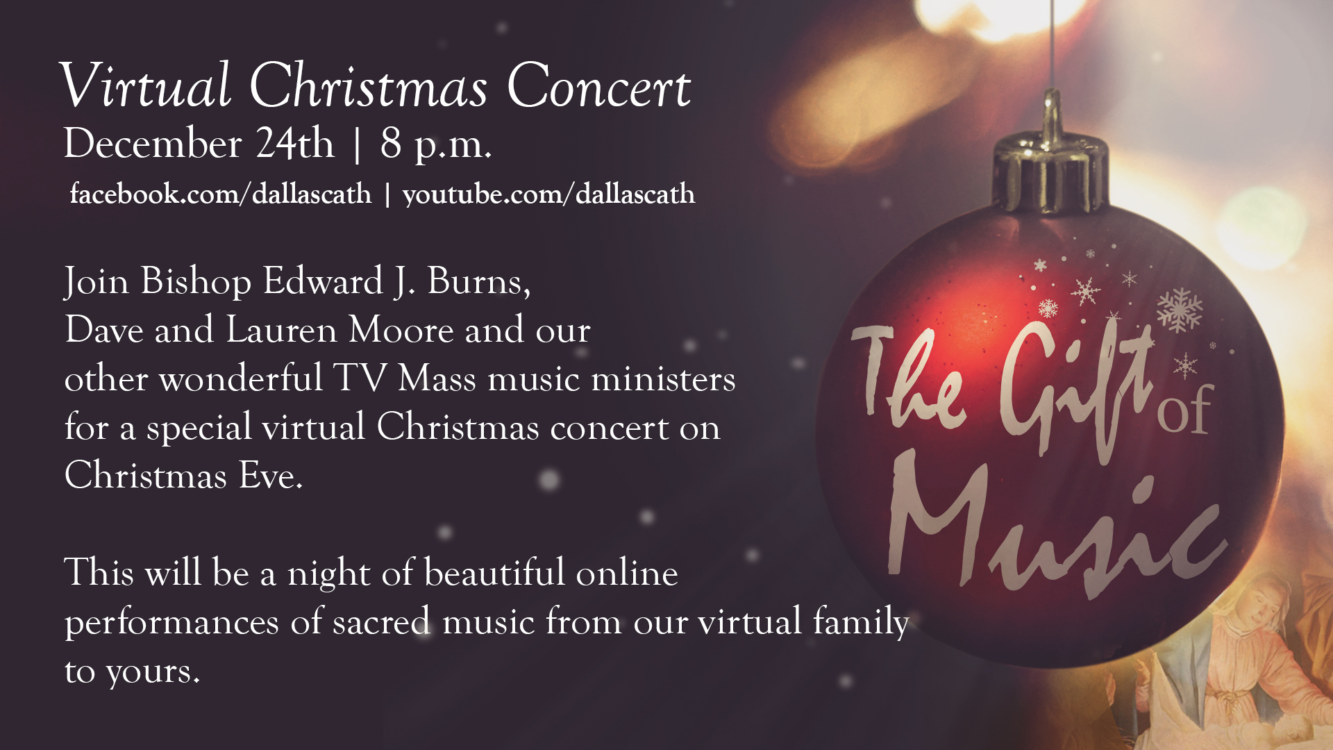 2021 Christmas Midnight Mass Forney News Events Televised Mass Sponsorship Continuing Into 2021 Enjoy This Virtual Christmas Eve Concert